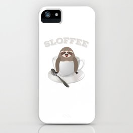 Sloffee Sloth Coffee Sloth In A Cup Christmas Gift iPhone Case