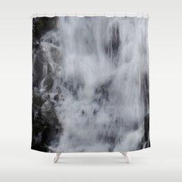 Waterfall Pareidolia Shower Curtain