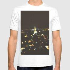 Starry Nights:Paris 2 Mens Fitted Tee White MEDIUM