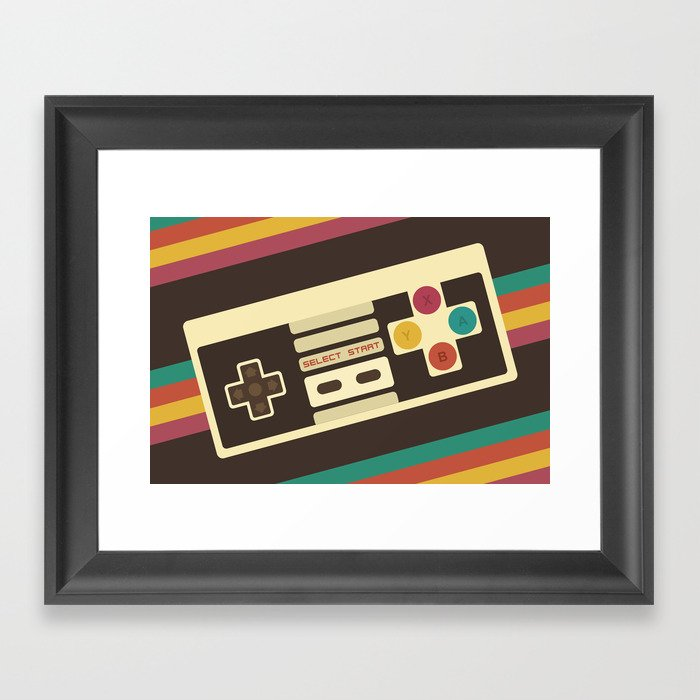 Retro Video Game 2 Framed Art Print