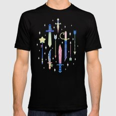 Magical Weapons LARGE Mens Fitted Tee Black