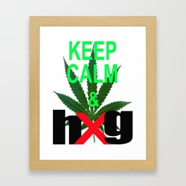 Keep Calm & hug Framed Art Print