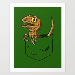 Pocket Raptor (Jurassic Park Velociraptor) Art Print