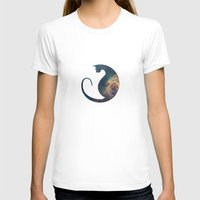 space cat T-shirts featuring Space Cat by Kit & Cat