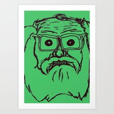 Allen ginsberg in green Art Print