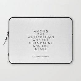 Champagne Sign F Scott Fitzgerald F Scott Fitzgerald Quote Fashion Print Inspirational Print Party Laptop Sleeve