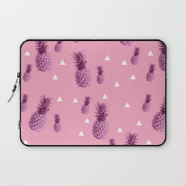 Summer tropical pink pineapple triangle pattern Laptop Sleeve