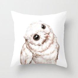 Baby Snowy Owl Throw Pillow