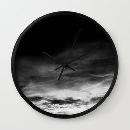 BLACK & WHITE TOUCHING #1 #abstract #decor #art #society6 Wall Clock