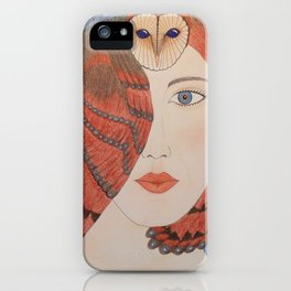 Owl Lady iPhone Case