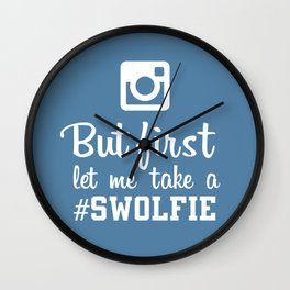 #swolfie Wall Clock