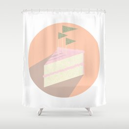 Always room for cake Shower Curtain