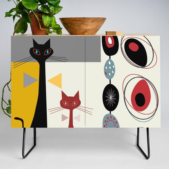 Mid-Century Modern Art Cats Credenza