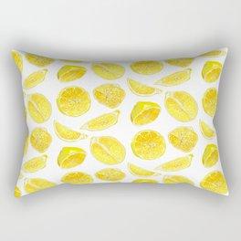 Fresh Lemon Fruit Slices Rectangular Pillow