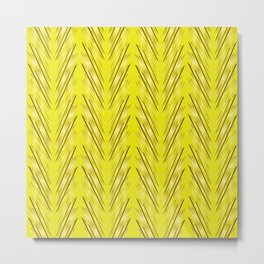 Wheat Grass Yellow Metal Print