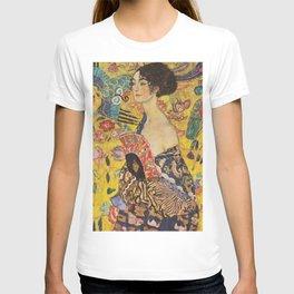 Gustav Klimt - Lady With Fan T-shirt