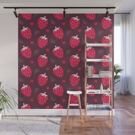STRAWBERRIES AND CHOCOLATE Wall Mural