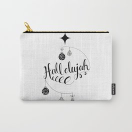 "Hand Written Holiday Themed ""Hallelujah"" Carry-All Pouch"