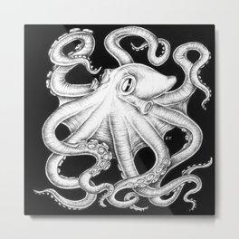 Octopus Tentacles Kraken Ink Nautical Beach  Metal Print