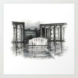 Lincoln Center, Night Art Print
