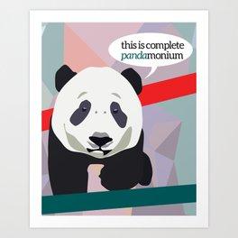Complete Pandamonium  Art Print