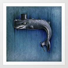 Dandy Whale Art Print