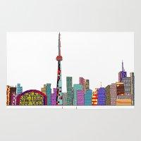 toronto Area & Throw Rugs featuring Toronto by bri.buckley