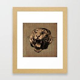 Vintage Tiger Framed Art Print