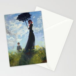 nanny with a parasol Stationery Cards