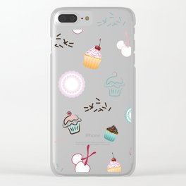 Cupcake Pastry Background - Colored 07 Clear iPhone Case