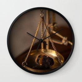 Bee Still Life Wall Clock