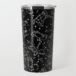 Constellations animal constellations stars outer space night sky pattern by andrea lauren black Travel Mug