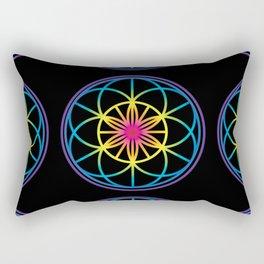 Sacred Symbols Rainbow Chakra Rectangular Pillow