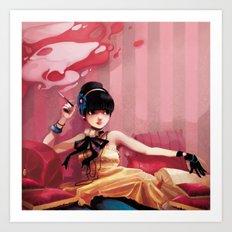 Le salon rose Art Print