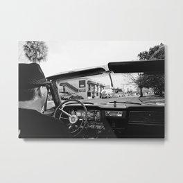 RETRO ON IVANHOE Metal Print