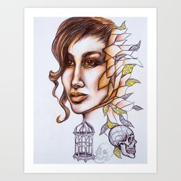 Birdcages Art Print