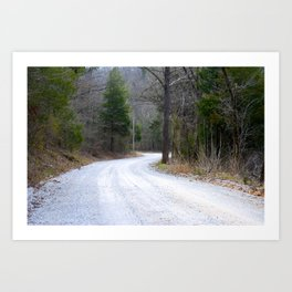 The Road Goes Ever On Art Print