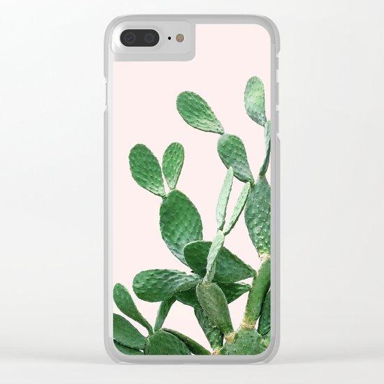 Cactus Opuntia Clear iPhone Case