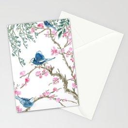 Birds/Sakura Illustration / Wall Art Stationery Cards