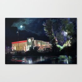 Moonrise over Burger King Canvas Print