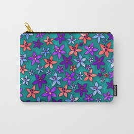 Spring Summer Floral Design Carry-All Pouch