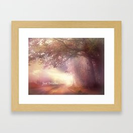"Inspirational Nature Trees ""Just Breathe"" Ethereal Landscape Framed Art Print"