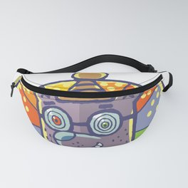 Hypnotic bear with light around his head Fanny Pack