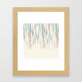 nude colour fall Framed Art Print