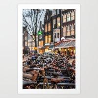 Bunch of bikes Art Print