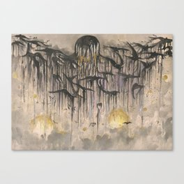 Ravens Setting Canvas Print