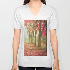 Scarlet Autumn Unisex V-Neck