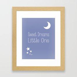 Nursery wall art in blue Framed Art Print