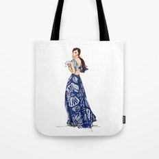 Vintage Hawaiian Print Girl Fashion Illustration  Tote Bag