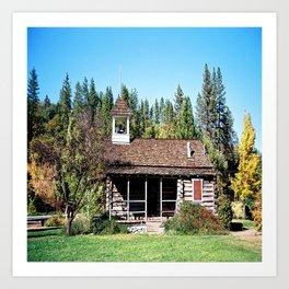 Historical Blanchard Flat Schoolhouse... Art Print